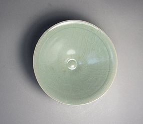 A Very Fine Sea-Green Celadon Conical-Shape Tea-Bowl