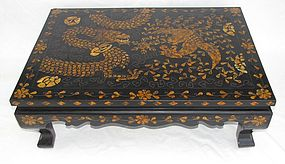 Mother of Peal/Tortoise Shell Inlaid Lacquer Low Table