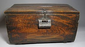 Very Fine Hard Wood Small Coin Chest