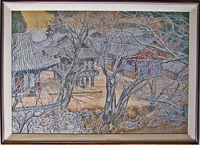 Korean Landscape Painting by Lee Yeol  Mo (1933- )