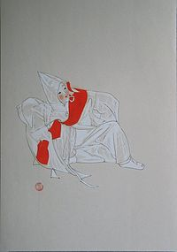 A Korean Rare/Fine Water Color Painting by Won Suk Yeon