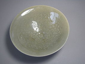 Very Rare and Fine Conical-Shape Celadon Tea Bowl
