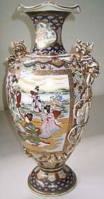 Very Fine and Large Satsuma Vase by KINKOZAN(1868-1927)
