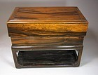 A Beautiful Scholar's Persimmon Wood Ink-Stone Box
