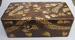 A Mother of Pearl/Turtoise Shell Inlaid Uniform Box