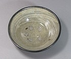 Very Rare Silver Rimmed Punchong Brushed Tea Bowl