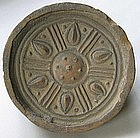 Very Rare Koguryo (Three Kingdoms) Stoneware Roof Tile
