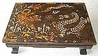 An Extremely Rare Tiger and Dragon Inlaid low Table