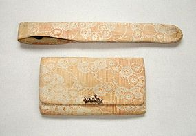 Japanese Antique Textile Tobacco Case and Pipe Case