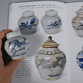 Miniature Chinese Porcelain Ming Jarlet with Horse