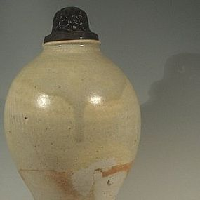 Tall Chinese Tang Dynasty Glazed Jar,  681-906 AD