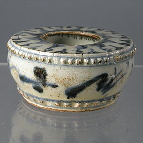 Underglaze Blue Porcelain Chinese Brush Washer