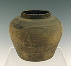 Rare Chinese Eastern Han Pottery Incised Jar