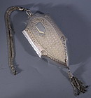 Engraved Chased Sterling Coin Purse Chatelain