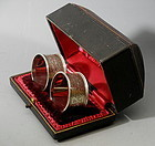 English Sterling silver Bright Cut Napkin Rings, 1904