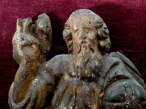 Rare Italian Wood Carving of God the Father, 15th C