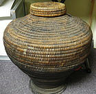 Large 19th C Kalinga Rice or Vegetable Hamper Basket