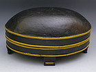Scandinavian Painted Wooden Oval Box with Feet, 19th C