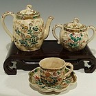 Japanese Satsuma Tea Set signed by Kinkozan, 19th C
