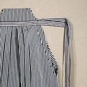 Japanese Black and White Pin Stripe Hakama