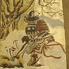 Man's Japanese Haori with Samurai Warrior, Signed