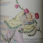 Chinese Porcelain Hat Stand Shou Lao