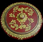Red and Yellow Cloisonne Chinese Candy Box