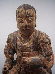 Ming Dynasty Wooden Deity