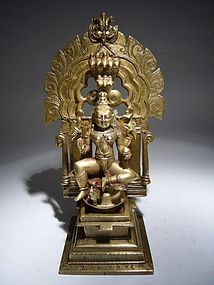 Indian Bronze Padmavati 18th Century