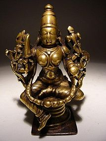 India Bronze Durga 17th Century