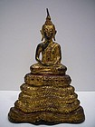 Thai Ratanakosin Bronze Buddha 19th Century