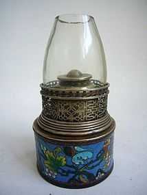 Email Cloisonn� Chinese Opium Lamp Late Qing