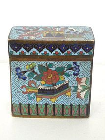 Large Chinese Email Cloisonn� Opium Box