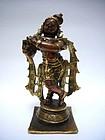 Indian Bronze Krishna in Ganga-Jumna Technique