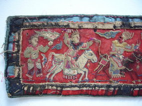 Rare Ming Dynasty Embroidered Textile Fragment