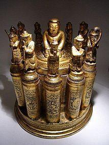 Burmese Lacquer Medicine Container