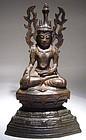 Burmese Bronze Arakan Buddha 17th/18th Century