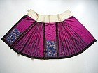 Chinese Embroidered Skirt 19th Century