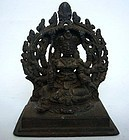 Indian Kerala Bronze Deity 14th/15th Century