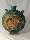 Ming Dynasty Glazed Pottery Moon Flask