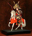 Japanese Doll of a Samurai on a Horse