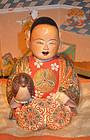 Rare 18th Century Japanese Edo Period Saga Ningyo