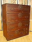 Japanese Antique Yonezawa Isho Tansu Clothing Chest