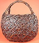 Japanese Antique Basket, Fine Example of Early 20th Cty