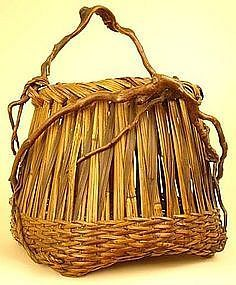 Very Fine, Early Ikebana Basket with Richly Hued Patina