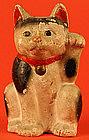 Early Meiji Maneki Neko, Japanese Beckoning Cat
