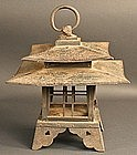 Very Rare Double Roofed Winter Viewing Lantern