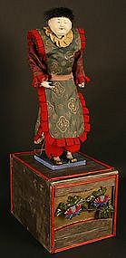 Very Rare 18th Century Karakuri Ningyo Mechanical Doll