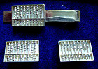 Sterling Abacus Cuff Links and Tie Bar Set They Move