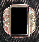 Onyx Thunderbird Ring Sterling Great Detail FREE US S/H